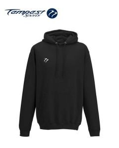 Tempest Lightweight Black Hooded Sweatshirt
